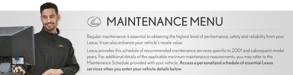 Lexus Maintenance Schedule